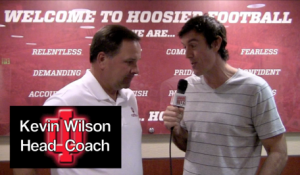Adam Ritz with Hoosiers Coach Wilson