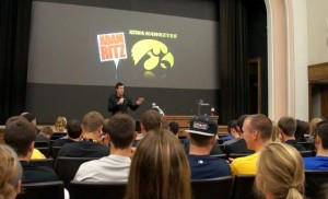 Adam at Iowa Hawkeyes