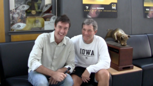 Adam Ritz with Kirk Ferentz