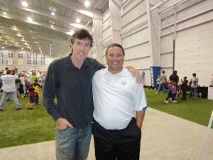Adam and Colts quarterbacks coach Clyde Christensen