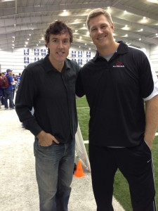 Retired Colts lineman Ryan Diem with Adam