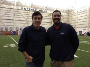 Buffalo Bills Director of Player Engagement Paul Lancaster with Adam