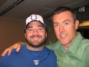 Jeff Saturday and Adam Ritz