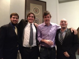 Adam with KA members at Rhodes College in Memphis, TN