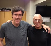 Adam Ritz and legendary coach Larry Brown