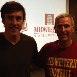 Adam with MSU head coach Bill Maskill