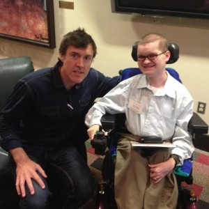 Adam with MDA National Youth Spokesman Luke Christie
