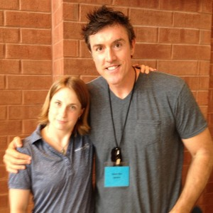 Adam with swimming champ Mary McClamroch