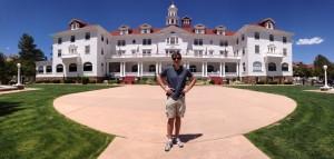 Adam at The Stanley Hotel in Estes Park, Colorado