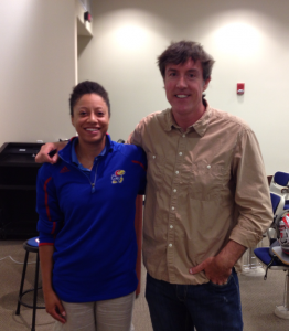 KU Jayhawks Dr. Sheriece Sadberry with Adam