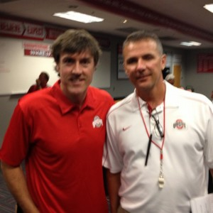 Adam Ritz with OSU head coach Urban Meyer