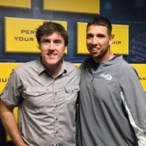 Adam with Toledo Rockets head football coach Matt Campbell