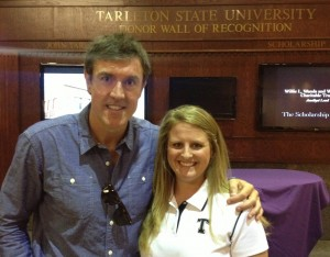 Cheri Spellmeier with Adam at Tarleton State University in TX