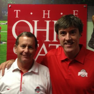 Adam with Larry Romanoff with Buckeyes Football