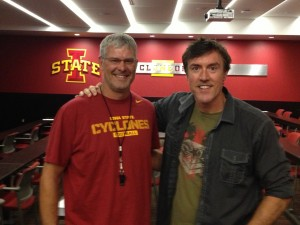 Iowa State Cyclones Head Football Coach Paul Rhoads with Adam Ritz