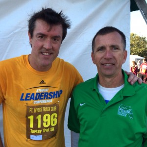 Adam with Fort Myers Track Club's Tom Murphy