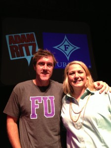 Adam with Stephanie Boyd at Furman University