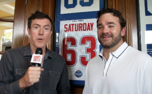 ESPN's Jeff Saturday with Adam Ritz
