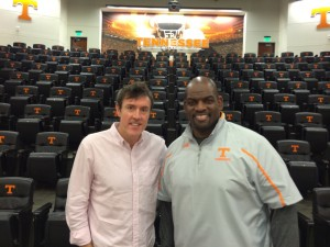 Adam Ritz with Tennessee Volunteers assistant coach Antone Davis