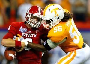 Tennessee linebacker Curt Maggitt in action