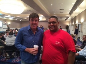 Adam Ritz with Kevin Saberre, Director of Fraternity and Sorority Life at SMU
