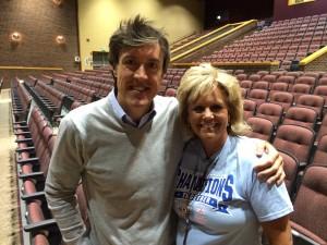 Adam Ritz with Lowell HS principal Lori Pavell