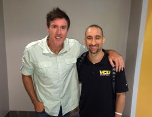Adam Ritz with VCU coach Shaka Smart