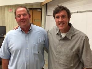 Clarkson University Associate Athletic Director Scott Smalling with Adam Ritz