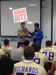 JMU Football Player Dan Brown Being Interviewed on The Adam Ritz Show