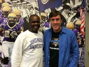 JMU Head Football Coach Everett Withers with Adam Ritz