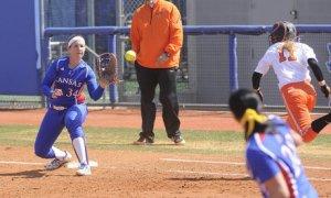 Kansas Jayhawks softball 1st base Maddie Stein