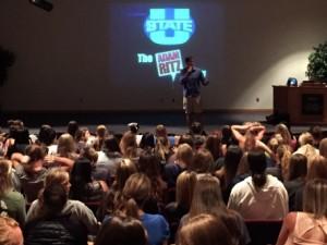 The Adam Ritz Show at Utah State University in Logan UT