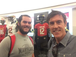 Maryland Terps football player Evan Mulrooney with Adam Ritz
