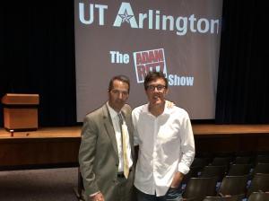 University of Texas Arlington Athletic Director Jim Baker with Adam Ritz