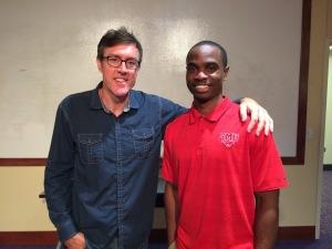 Adam Ritz with SMU Life Skills Coordinator Mike Walker