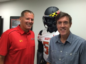 Maryland's Randy Edsall with Adam Ritz.