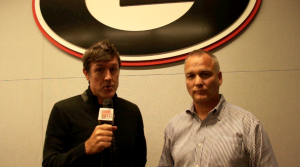 Adam Ritz with Georgia Bulldogs head football Coach Mark Richt