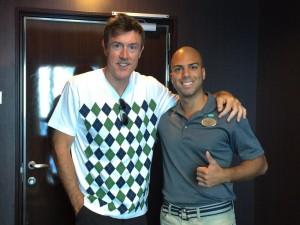 Adam Ritz with Joel Sanchez of Norwegian Cruise Lines
