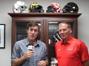 Adam Ritz interviews Maryland football coach Randy Edsall