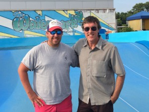 Former Flowrider National Champion Andy Haase with Adam Ritz