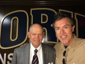 Oral Roberts University Athletic Director Mike Carter with Adam Ritz