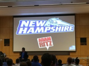 Adam Ritz at the University of New Hampshire