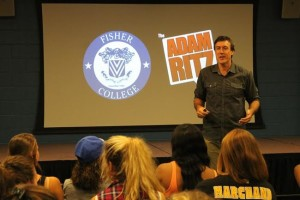 The Adam Ritz Show at Fisher College in Boston