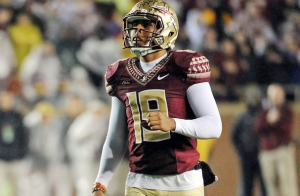 Florida State University All American kicker Roberto Aguayo